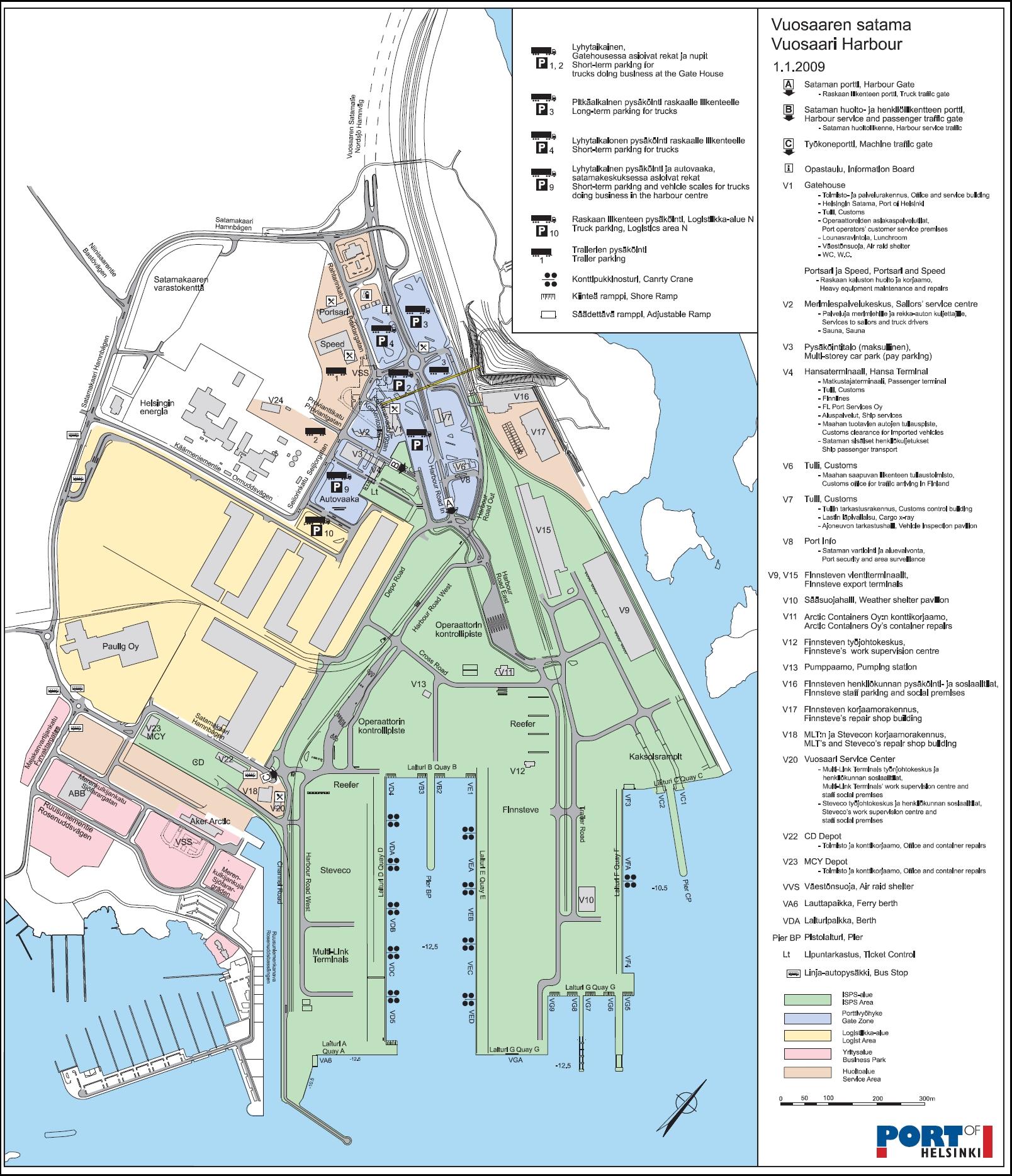 1 Vuosaaren Satama Kartta Helsinki Tallinna Seura R Y Hetas