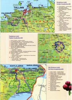 Harjun, Raplan ja Ida-Virun maakuntareitit