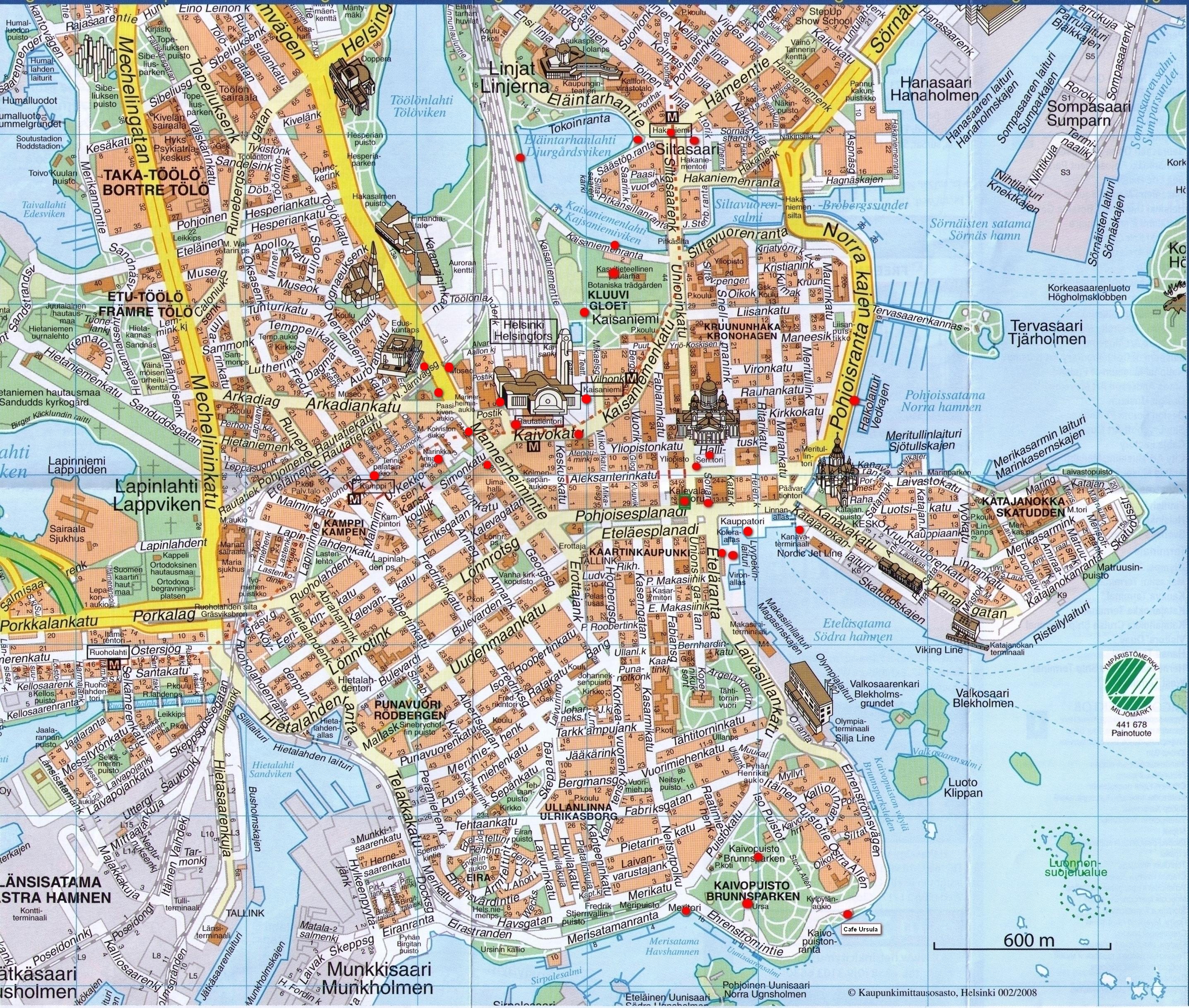 helsinki kartta kaupunginosat