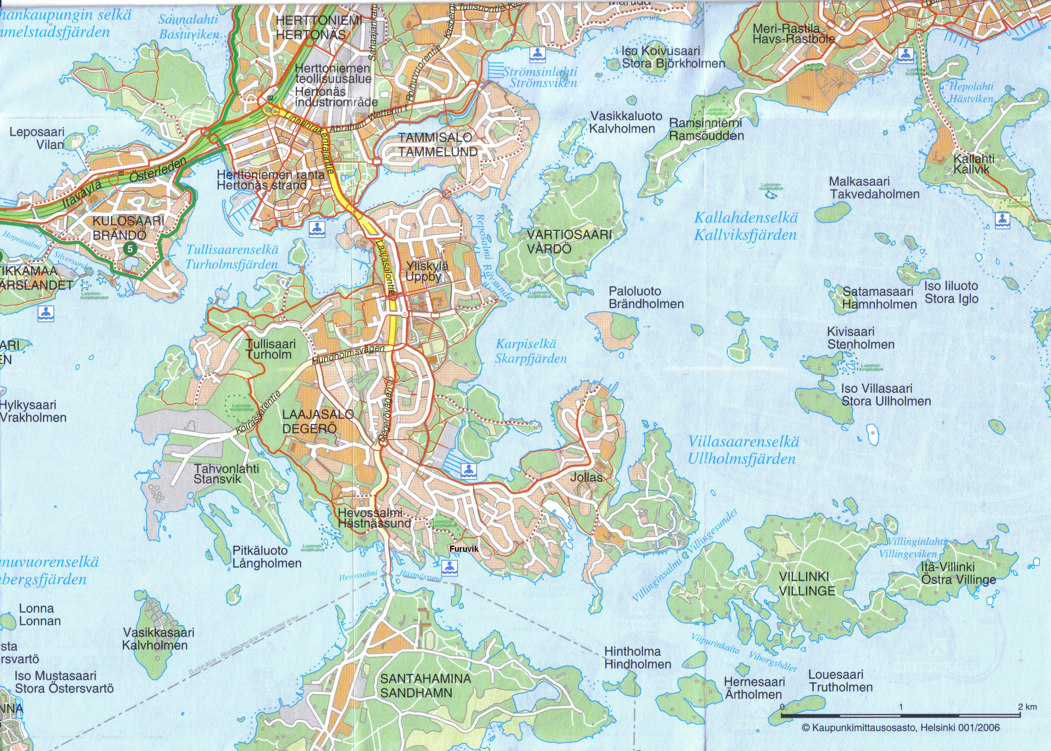 Laajasalon Kartta Iso Helsinki Tallinna Seura R Y Hetas