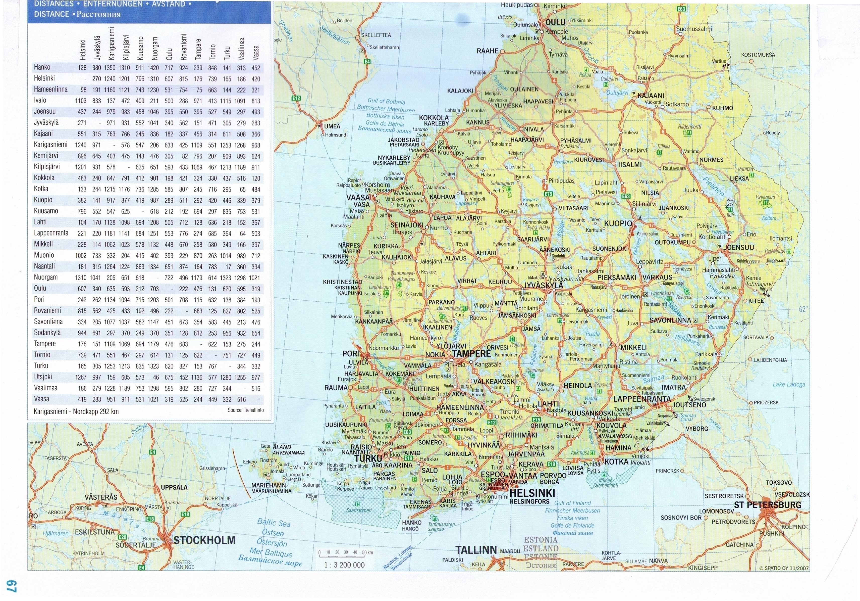 karta finland
