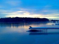 Furuvikin talvinen auringonlasku klo 15.43